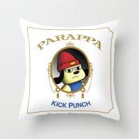 Parappa - Kick Punch Throw Pillow