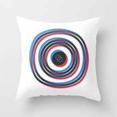 overlapping waves Throw Pillow