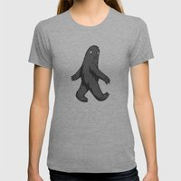 The Road Less Traveled Womens Fitted Tee Athletic Grey SMALL