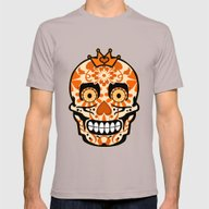 Halloween Calaveras Mens Fitted Tee Cinder SMALL