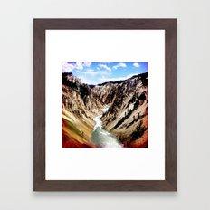 yellowstone river Framed Art Print