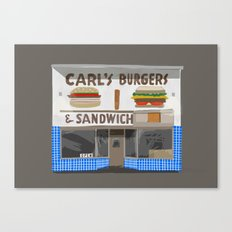 Carl's Burgers Canvas Print