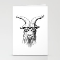 Hipster Goat Stationery Cards