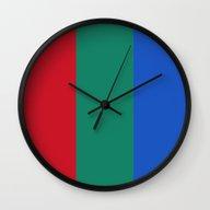 Flag Of Mars - High Qual… Wall Clock