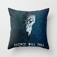 Doctor Who: The Silence Throw Pillow
