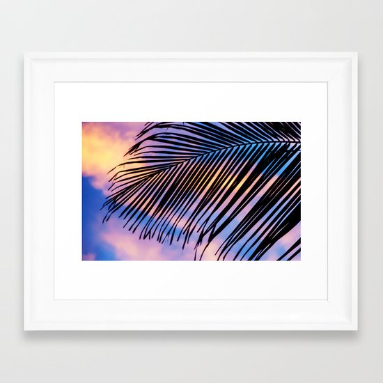 SUNSET PALM Framed Art Print