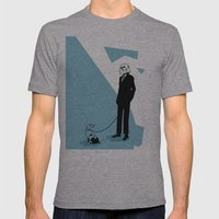 Off Time Mens Fitted Tee Athletic Grey SMALL