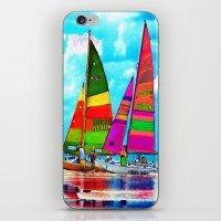 Neon Sailboats -Daytona … iPhone & iPod Skin
