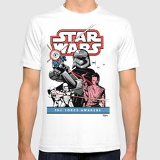 The Force Awakens Mens Fitted Tee SMALL White
