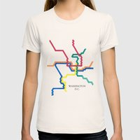Washington D.C. Metro Womens Fitted Tee Natural SMALL