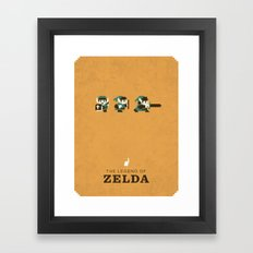 The Legend of Zelda Framed Art Print