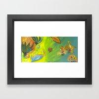 Tropical Flowers Framed Art Print