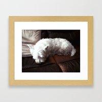 Dog Tired Framed Art Print
