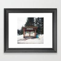 Slocan City Bus Stop Framed Art Print