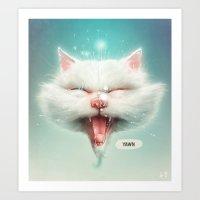 The Water Kitty Art Print