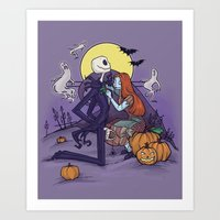 The Halloween Hero Art Print
