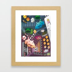 Lost in videogames Framed Art Print
