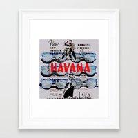 HAVANA BEFORE CASTRO Framed Art Print