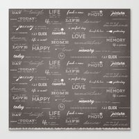 Life on a Chalkboard Canvas Print