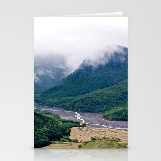 Mount St. Helen's River Stationery Card