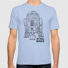 R2d2 Mens Fitted Tee Tri-Blue SMALL