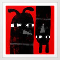 BLACK DOGS Art Print