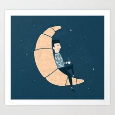 Ze Croissant Moon Art Print