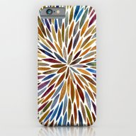 iPhone & iPod Case featuring Watercolor Burst – Ret… by Cat Coquillette