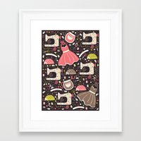 Vintage Sewing Framed Art Print