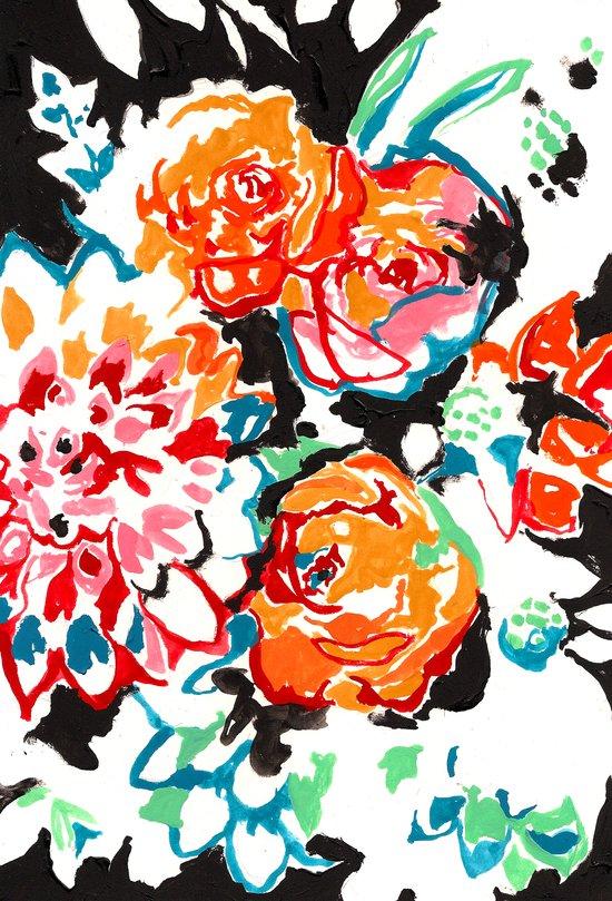 Brush Floral Art Print