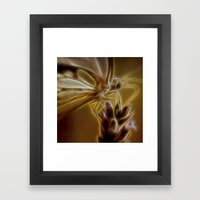 Electrified Butterfly Framed Art Print