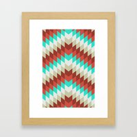 Snakeskin Chevron Framed Art Print