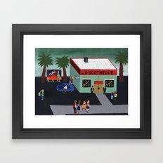 Une Discothèque Framed Art Print
