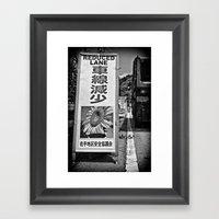 Okinawa traffic jam Framed Art Print