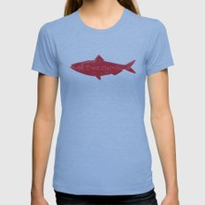 Swedish Fish Womens Fitted Tee Athletic Blue SMALL