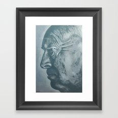 vladimir nabokov-grey scale Framed Art Print