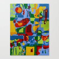 Geometric Garden Canvas Print