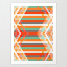 DecoChevron Art Print