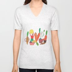 Vegetables Party. Unisex V-Neck