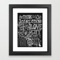 Just Get It Done  Framed Art Print