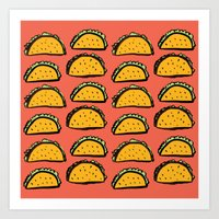 Infinity Tacos Art Print