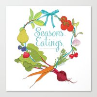 Seasons Eatings Canvas Print