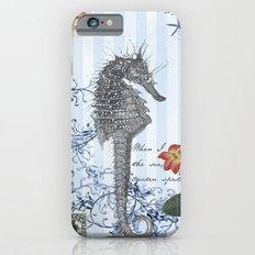 Seahorse in Blue iPhone 6 Slim Case