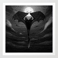 Drawlloween 2013: Bat Art Print