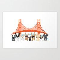 Bay Area Frenchies Art Print