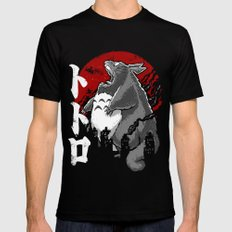 Totorozilla Mens Fitted Tee Black SMALL
