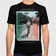 A.G. Collage SMALL Black Mens Fitted Tee