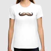 mustache T-shirts featuring Mustache by beart24