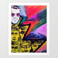 Ray of People Art Print