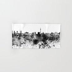 Berlin skyline in black watercolor Hand & Bath Towel